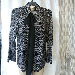 Michael Kors Collection Leopard Pattern Shirt